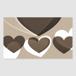 Café del arte el   del corazón para dos pegatina rectangular