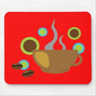 Café del arte pop alfombrilla de raton