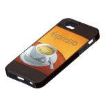 Café del café express del vintage iPhone 5 Case-Mate cárcasas
