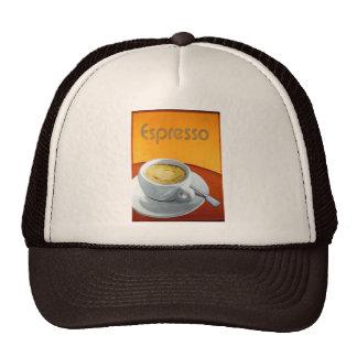 Café del café express del vintage gorro de camionero