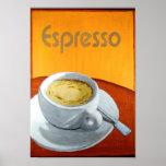 Café del café express del vintage impresiones