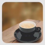 café del café express calcomanía cuadradas personalizadas