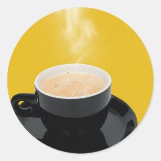 Café del café express pegatina redonda