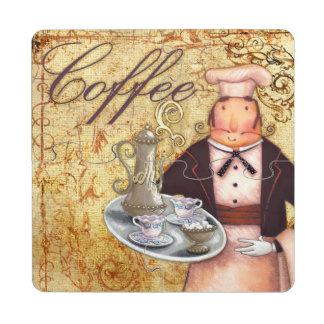Café del cocinero posavasos de puzzle