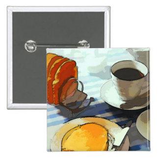 Café del desayuno pin