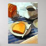 Café del desayuno poster