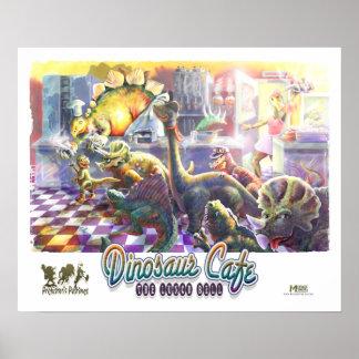 Café del dinosaurio posters