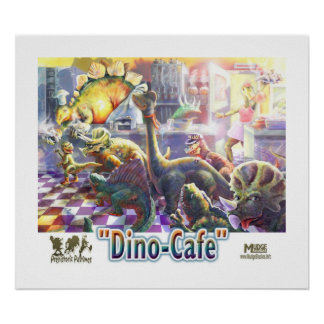 Café del dinosaurio poster