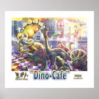 Café del dinosaurio póster