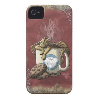 [Café del dragón de la taza de té] Case-Mate iPhone 4 Cobertura