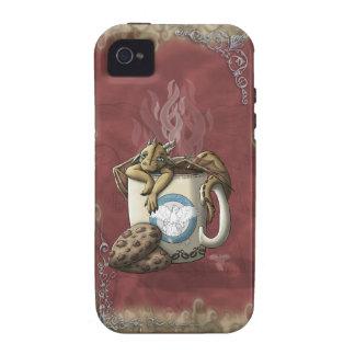 [Café del dragón de la taza de té] Case-Mate iPhone 4 Funda