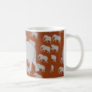 Café del elefante/taza elegantes del té taza de café