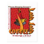 Café del Hawaiian de Java de la lava Tarjetas Postales