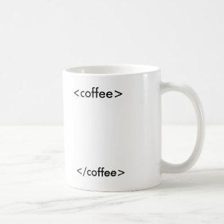 café del HTML Taza Básica Blanca