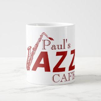 Café del jazz de Paul - taza Tazas Extra Grande