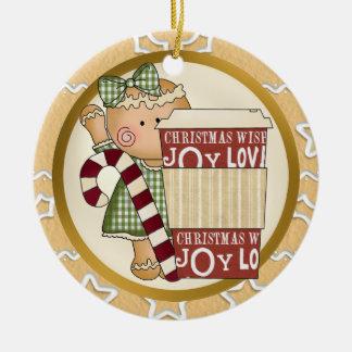 Café del ornamento del día de fiesta del pan de je ornaments para arbol de navidad