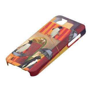 Café del pingüino iPhone 5 Case-Mate coberturas