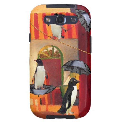Café del pingüino galaxy s3 fundas
