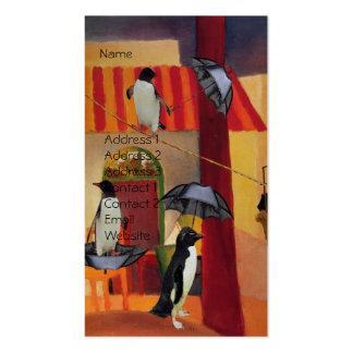 Café del pingüino tarjetas de visita