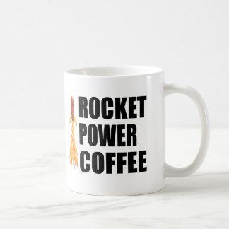 Café del poder de Rocket Taza Clásica