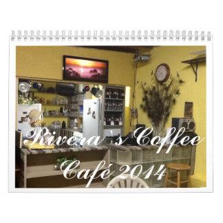 Café del ` s de Rivera la colección de Cato Calendarios