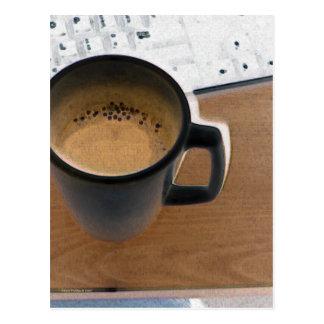 Café del teclado postal