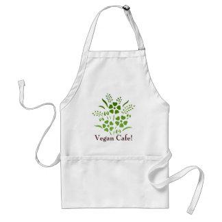 ¡Café del vegano! Delantal