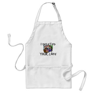 Cafe Deleted Adult Apron