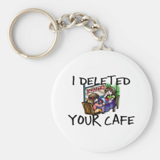 Cafe Deleted Keychain