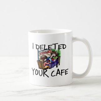 Cafe Deleted Classic White Coffee Mug