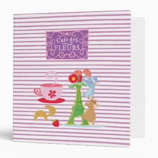 Cafe des fleurs 3 ring binder