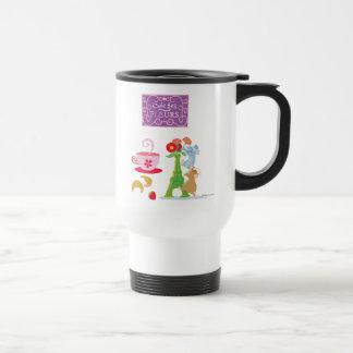 Cafe des fleurs travel mug