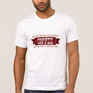 Café descrito camisas