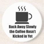 Café-Detrás lejos lentamente Posavasos Personalizados