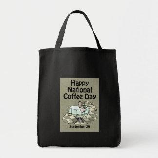 Café día 29 de septiembre nacional bolsas de mano