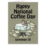 Café día 29 de septiembre nacional felicitación