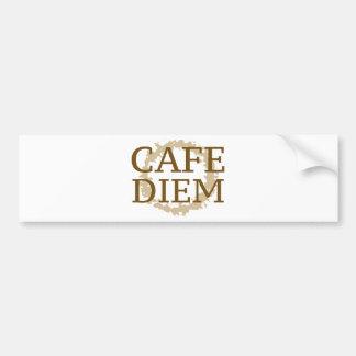 Café Diem Etiqueta De Parachoque