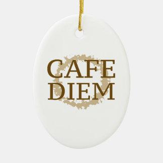 Cafe Diem Ceramic Ornament