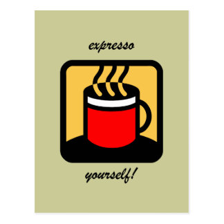 Café divertido del expresso tarjetas postales