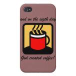 café divertido iPhone 4 cárcasa
