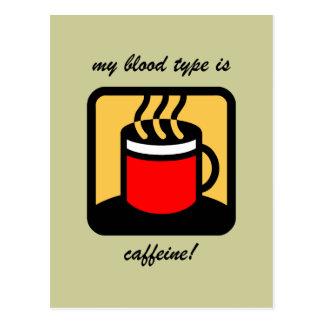 Café divertido postal