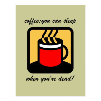 Café divertido postales