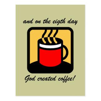 Café divertido tarjeta postal