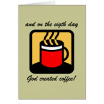 Café divertido tarjetas