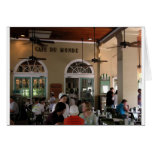 Cafe du Monde in full swing Greeting Card