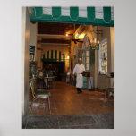 Cafe Du Monde New Orleans Side walk Cafe Coffee Poster