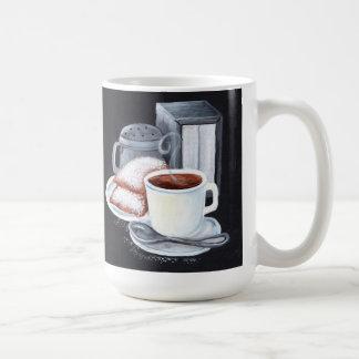 Cafe du Monde on Black White Mug