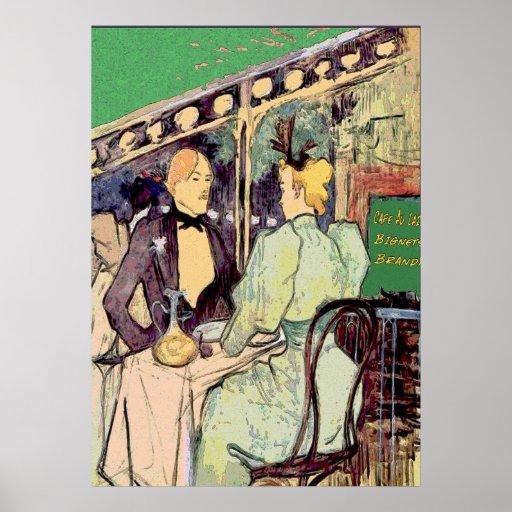 Cafe Du Monde Vintage Stykle Poster