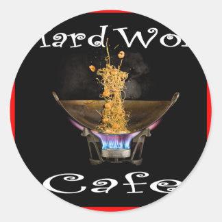 Café duro Tailandia del Wok Pegatina Redonda