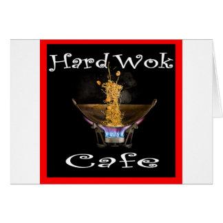 Café duro Tailandia del Wok Tarjeta De Felicitación